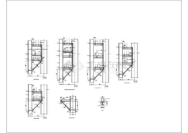 单层综合管架结构工业厂房施工图(钢结构)