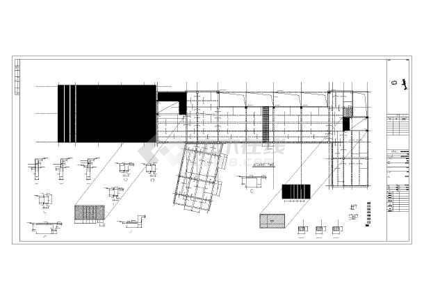 [成都]四层框架结构小学教学楼结构图(钢结构屋顶)