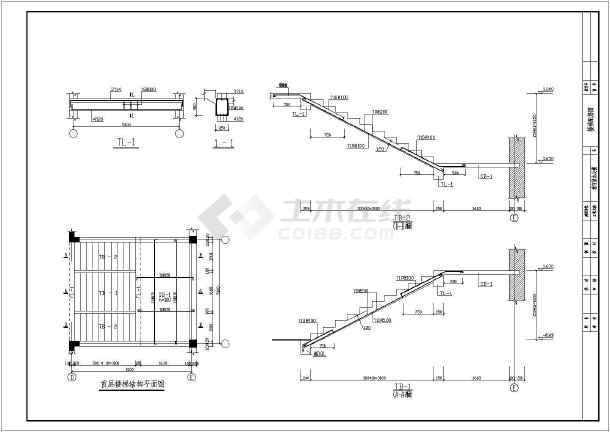 两层砌体结构砖石基础办公楼结构施工图(6度抗震)