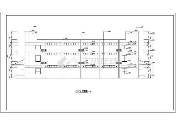 【合肥】某三层框架结构仓库建筑结构施工图(独立基础)