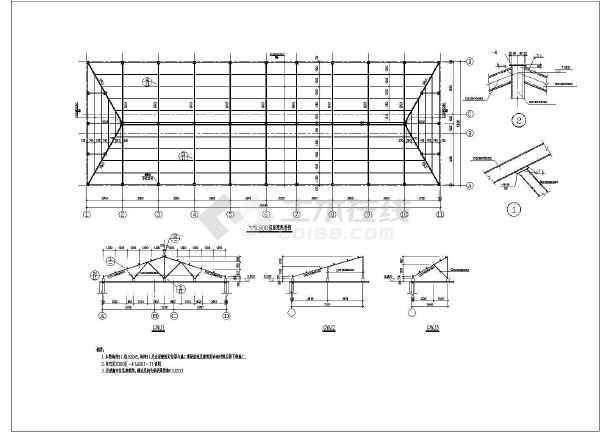 三层砌体结构条形基础办公楼结构施工图(7度抗震)