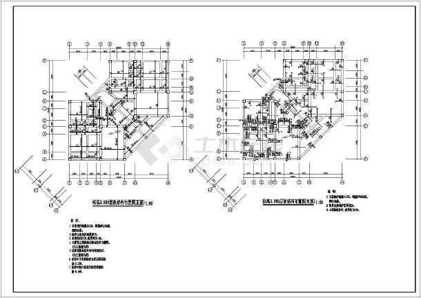 七层桩基础砌体结构住宅结构施工图