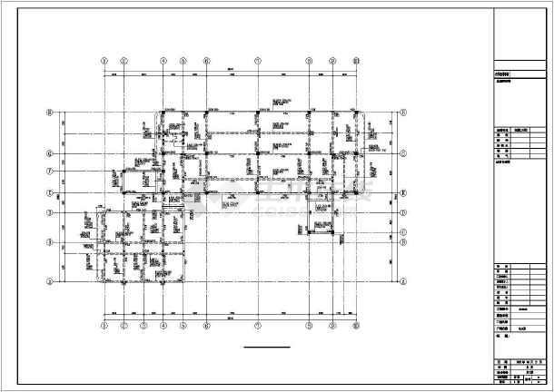 [安徽]三层框架结构幼儿园结构图(含建筑图)