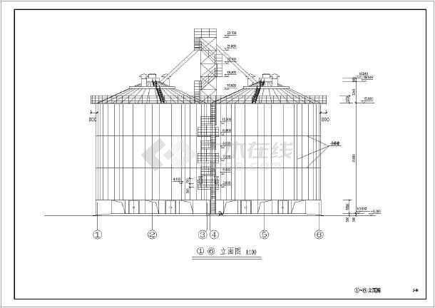 单层砌体结构粮仓结构施工图(毛石基础)