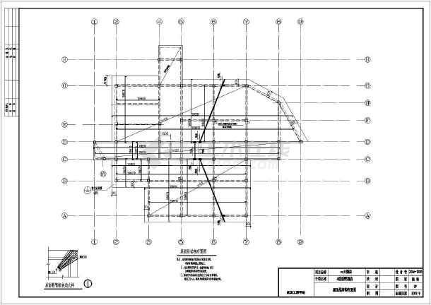 框架结构别墅酒店结构施工图(二层独立基础带夹层)