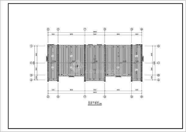 某砌体结构四层古建筑民居建筑施工图