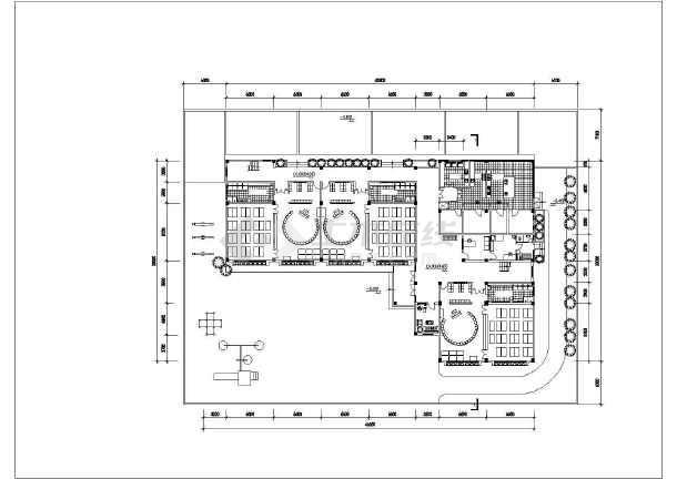 某三层九班屋顶带活动场地幼儿园建筑方案图