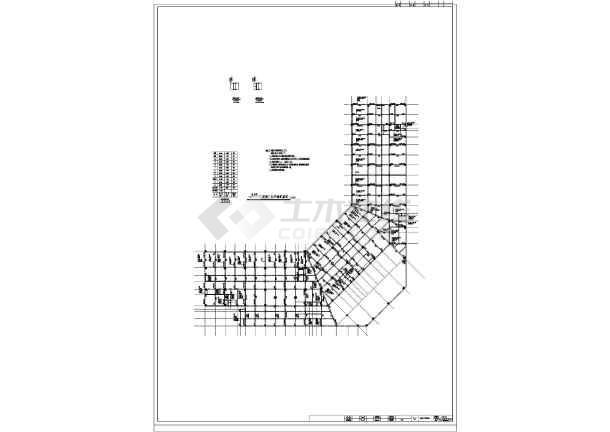 [广西]11层框架结构酒店结构图(地下一层)