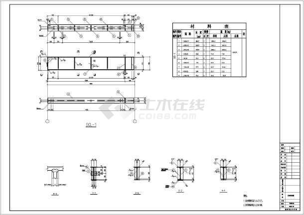 单层轻钢门式刚架结构厂房结构施工图