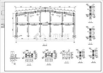 【拼装平面图】24米垮钢结构结构图纸施工图v结构1406建筑厂房图片