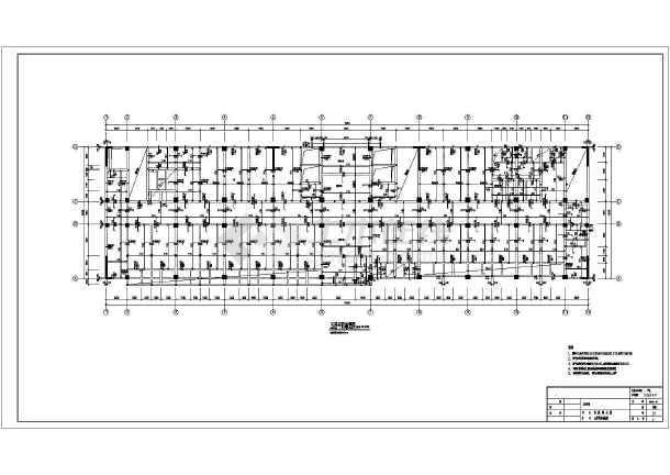 16层框剪结构医院住院部大楼结构施工图图片