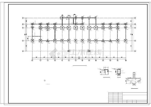 安徽某6层框架办公楼结构设计图