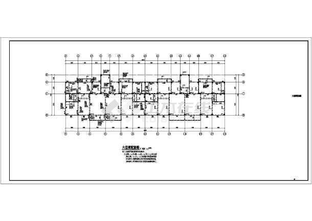 六层独立基础带阁楼框架住宅结构施工图(6度抗震)