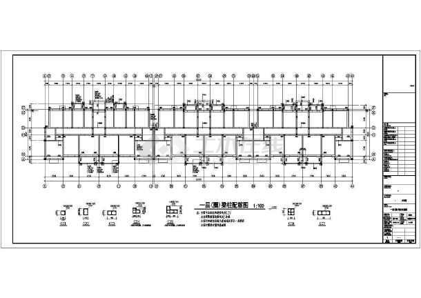 5100平六层(带跃层)砖混结构住宅楼建筑结构施工图