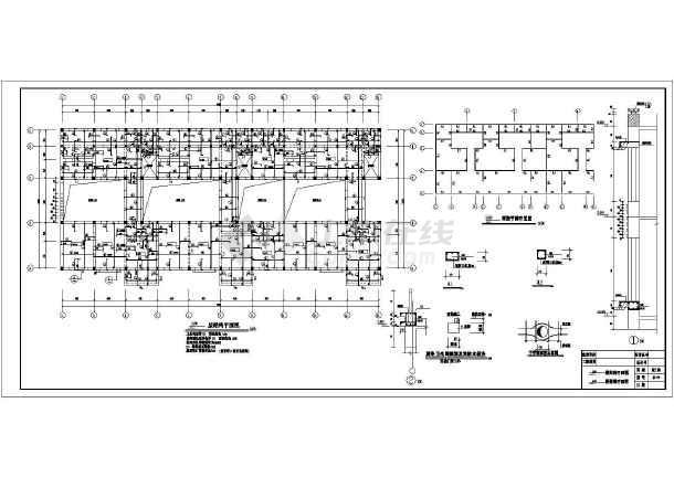三层坡屋面砌体结构农家院结构施工图(桩基础)