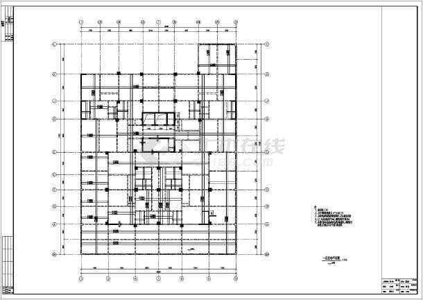 雅安市某高校18层框剪公寓结构设计图