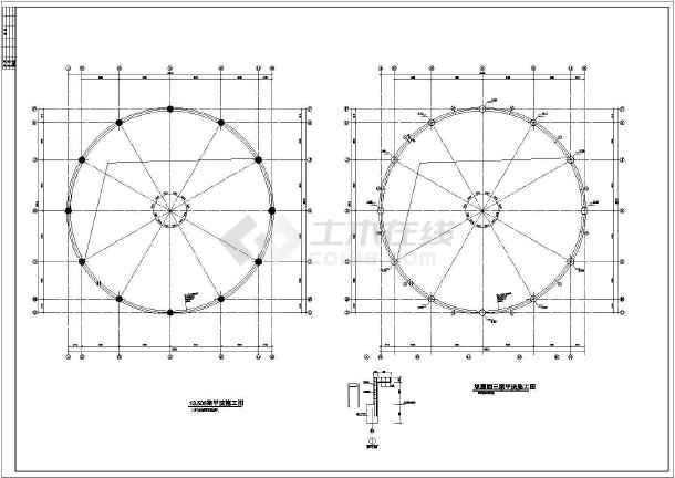 独立基础圆形天井框架结构商场结构施工图