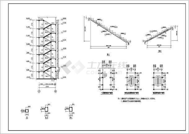 七层砌体结构条形基础住宅结构施工图(6度抗震)