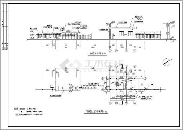 图纸厂房及分会建筑设计围墙图纸门卫计录设计费厂区图片