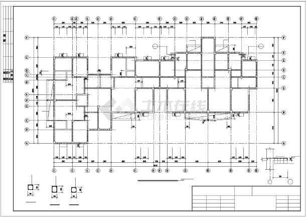 某全现浇十二层框架剪力墙住宅结构图