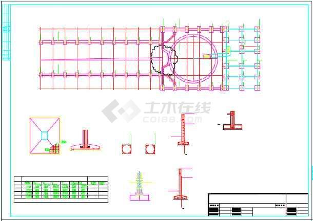 单层独立基础门式刚架挤奶厅结构施工图