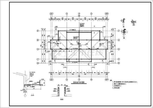 两层条形基础砌体结构住宅结构设计施工图(6度抗震)