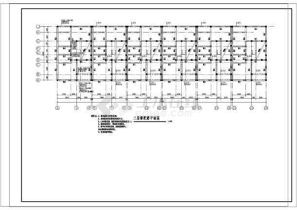 三层条形基础砌体结构回建房结构施工图(6度抗震)