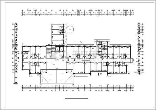 某市20000㎡十三层武警医院住院大楼建筑方案图纸(高48米)图片