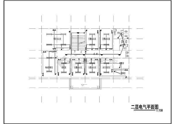 三层小型办公楼电气设计施工图纸