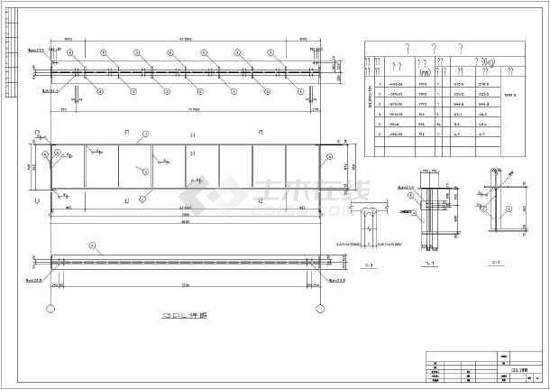 某32吨带吊车钢结构厂房结构设计图