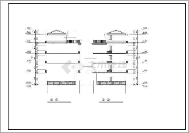 某四层混合结构私人四层住宅楼全套建筑结构设计图