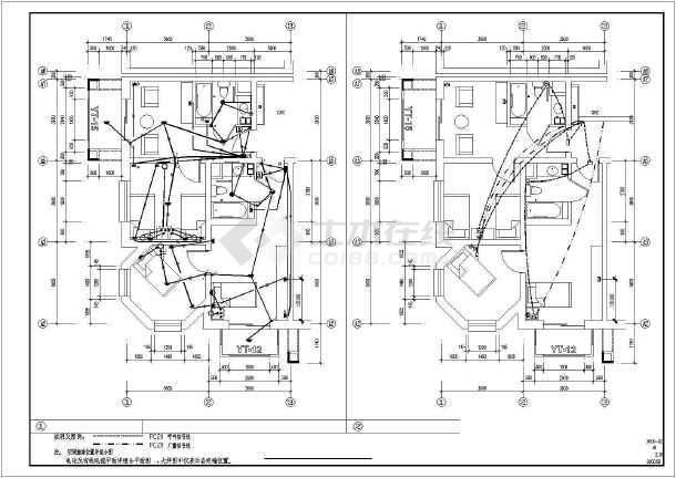某380v/220v老人疗养院强弱电电气设计图纸
