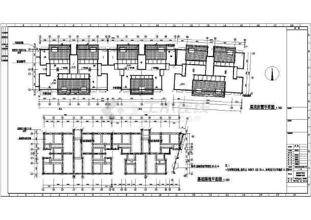 某地上六层农转非安置房工程图纸v工程花园(第明晟三期图纸电气陆丰图片