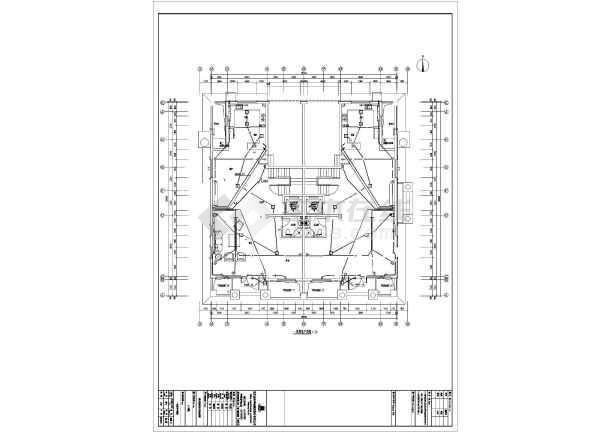 【河北】916精装别墅图纸工艺施工甲级(全套电气护墙板施工原木cad图纸图片