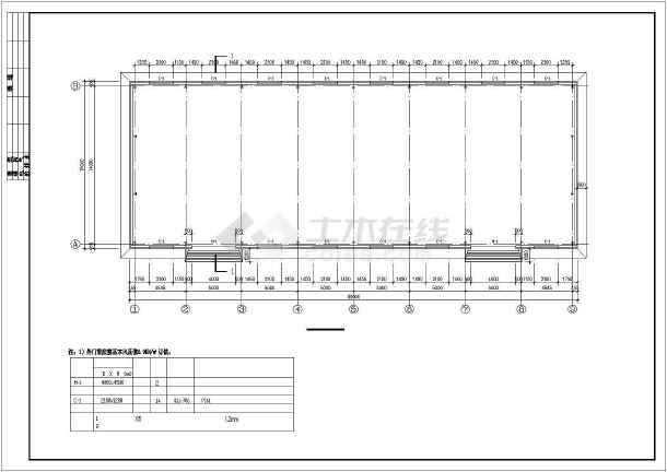 单层门式刚架结构油田厂房结构图