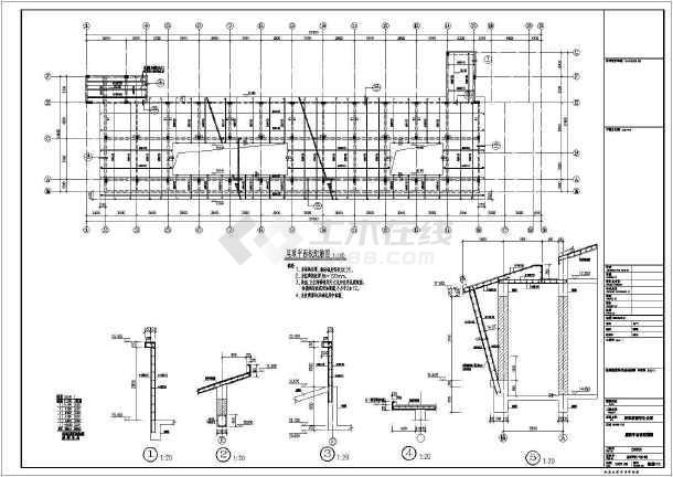【浙江】某框架结构学院教师及留学生公寓结构设计图