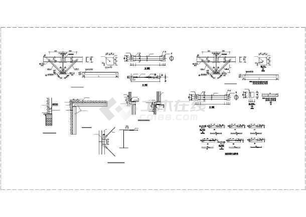 山东某2×18米跨带吊车钢结构厂房设计图