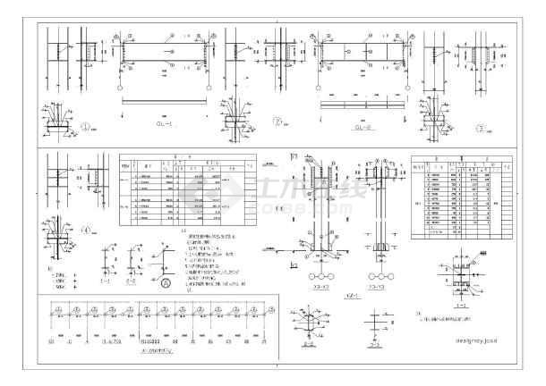 某60米跨15000平米钢结构厂房结施工图纸