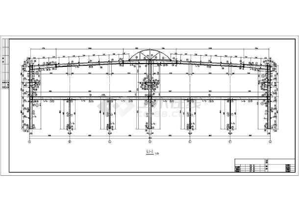 长春某2×18米跨带吊车钢厂房结构设计图