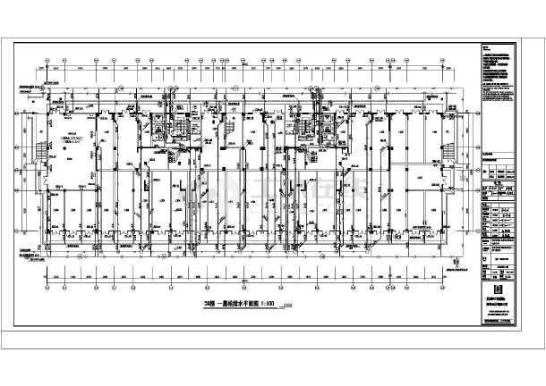 [深圳]多栋连廊安置楼给排水喷淋消防系统施工图(含高层v连廊)福建六相室内设计公司图片