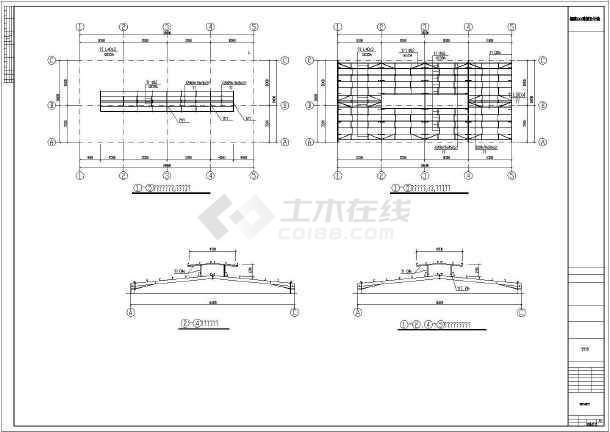 某生化提炼车间钢结构厂房结构图
