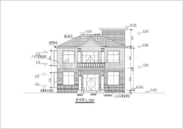 90㎡砖混结构二层独栋别墅建筑结构施工图(含水电)