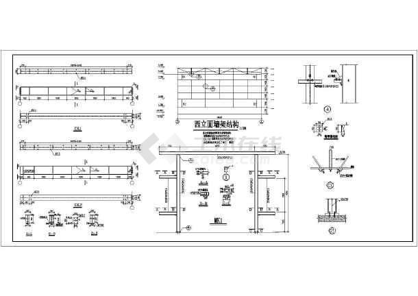 某18米跨轻钢厂房结构图(带5吨轻级工作制行车一台)