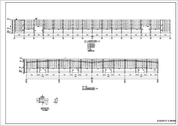 钢结构设计说明,基础平面布置图,锚栓平面布置图,结构平面布置图,系杆