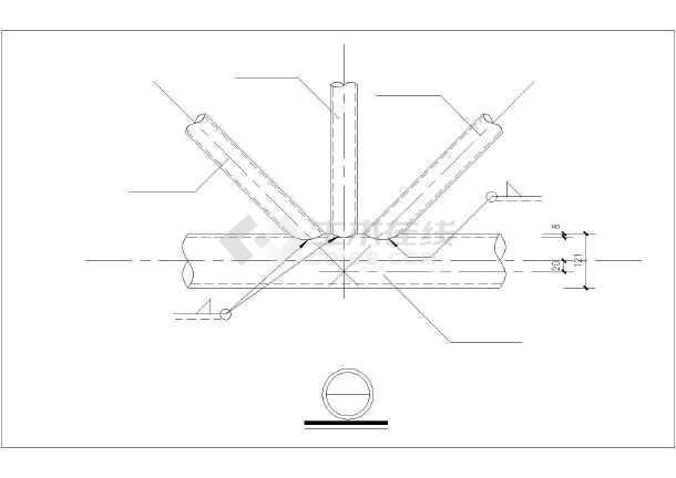 某7度抗震34米管桁架刚架建筑结构图(含钢结构设计说明)