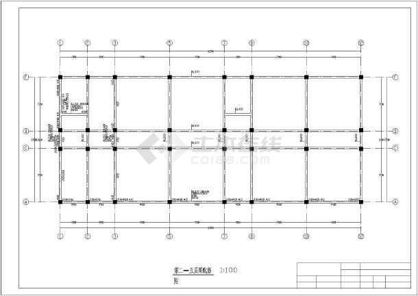 某六层公寓宿舍楼毕业设计(含计算书,部分建筑结构设计图)