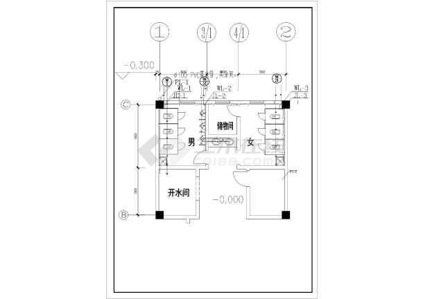 【江西】小型教学楼给排水设计施工图(雨水系统)图片