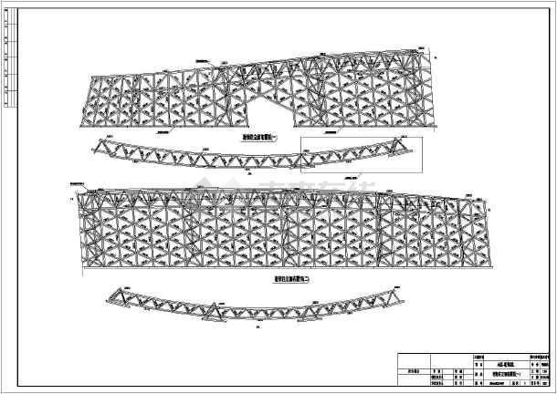 插件网架结构园博图纸馆钢结构导入空间(84批量深化cad图纸植物图片