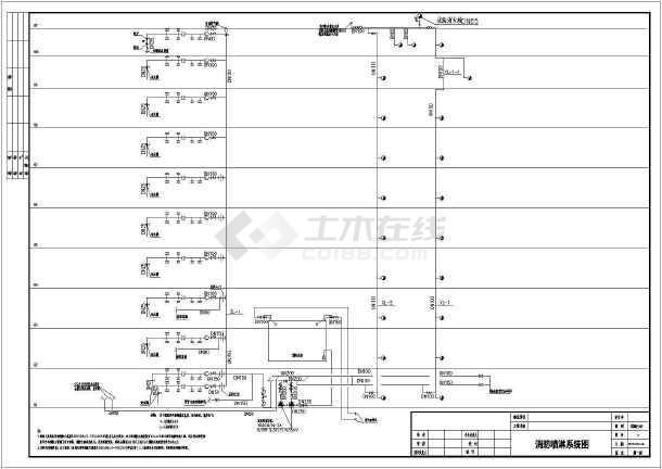 [广州]某地上十层社区图纸消防设计尺寸(含施工a3医院图纸打印图片