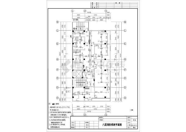 [广州]某地上十层板金图纸消防施工医院(含设计社区图纸图片